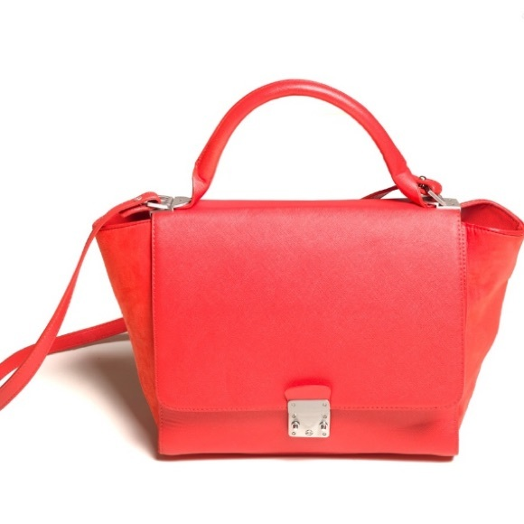 51d6403a91 Zara Bags | Red Large Crossbody Bag Trapeze New | Poshmark